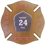 Maltese Cross Plaque with ColorFuze Fire Badge