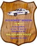 Badge Shaped Plaque with ColorFuze Police Car