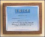 American Walnut Photo / Certificate Plaque