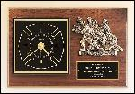 Fireman Award Clock with Antique Bronze Finish Casting.