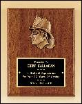 Fireman Award with Antique Bronze Finish Casting. (P2792)