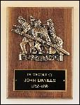 Fireman Plaque with Antique Bronze Finish Casting. (P3-X)