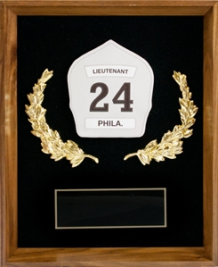 Shadow Box Plaque with Single Fire Badge