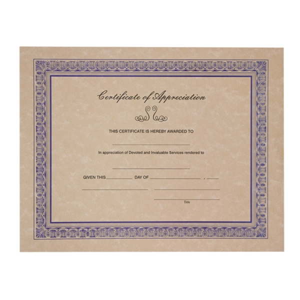 Certificate of appreciation tan yelopaper Gallery
