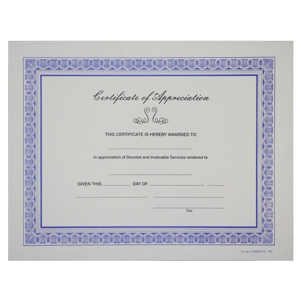 Certificate of appreciation white yadclub Gallery