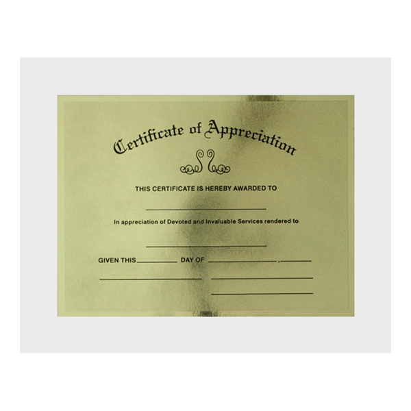Certificate of appreciation sf1 yadclub Images